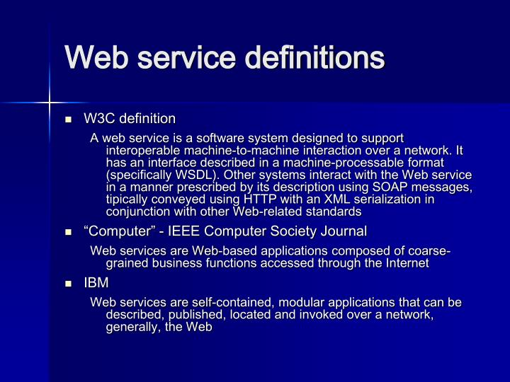 Web service definitions