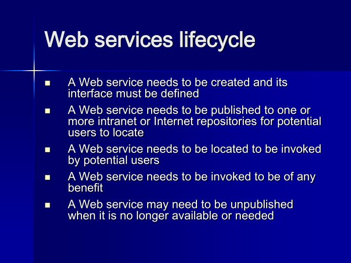 Web services lifecycle