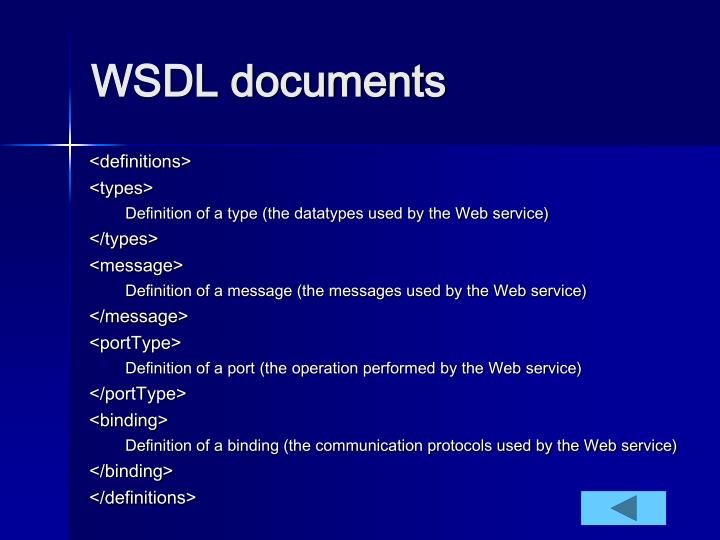 WSDL documents