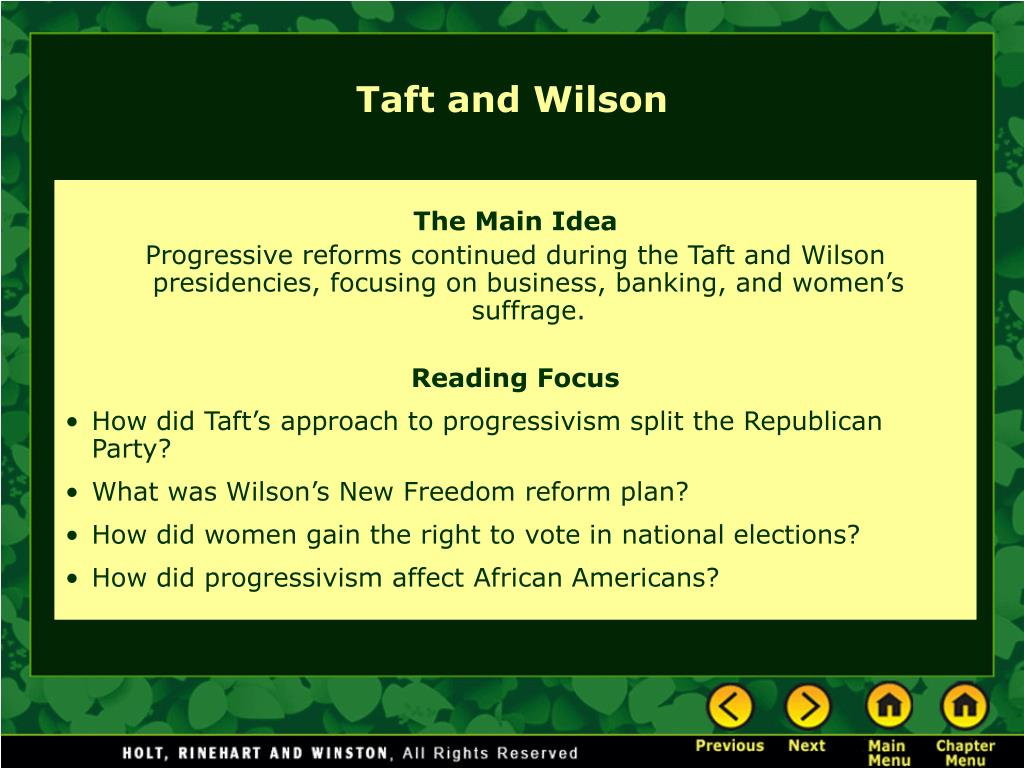 taft and wilson l.