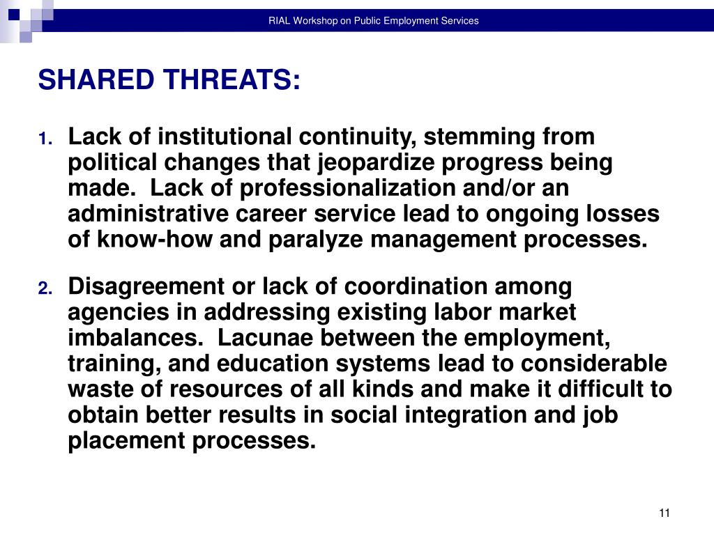 SHARED THREATS: