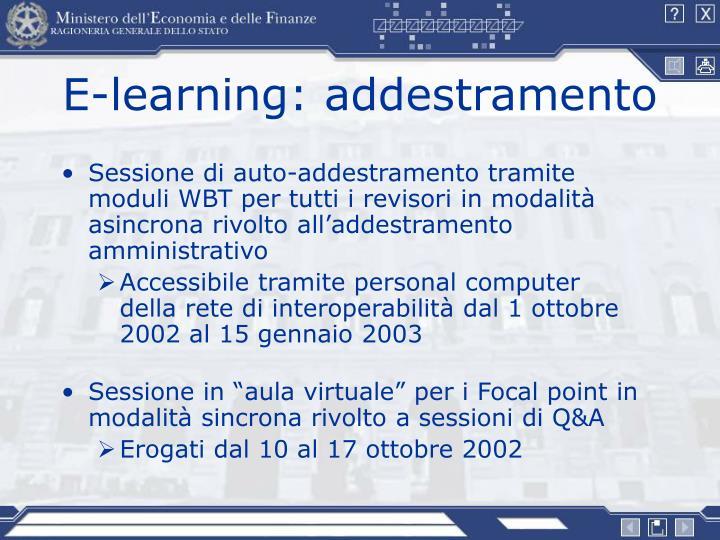 E-learning: addestramento