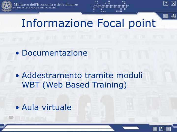 Informazione Focal point