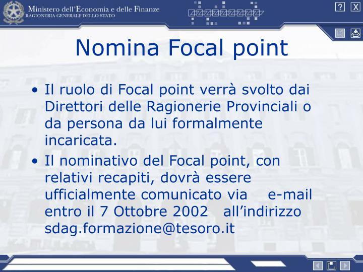 Nomina Focal point