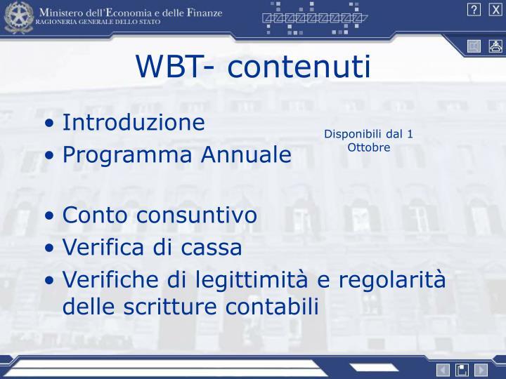 WBT- contenuti