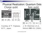 physical realization quantum dots