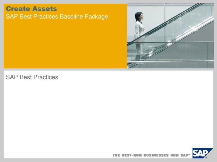 Create assets sap best practices baseline package