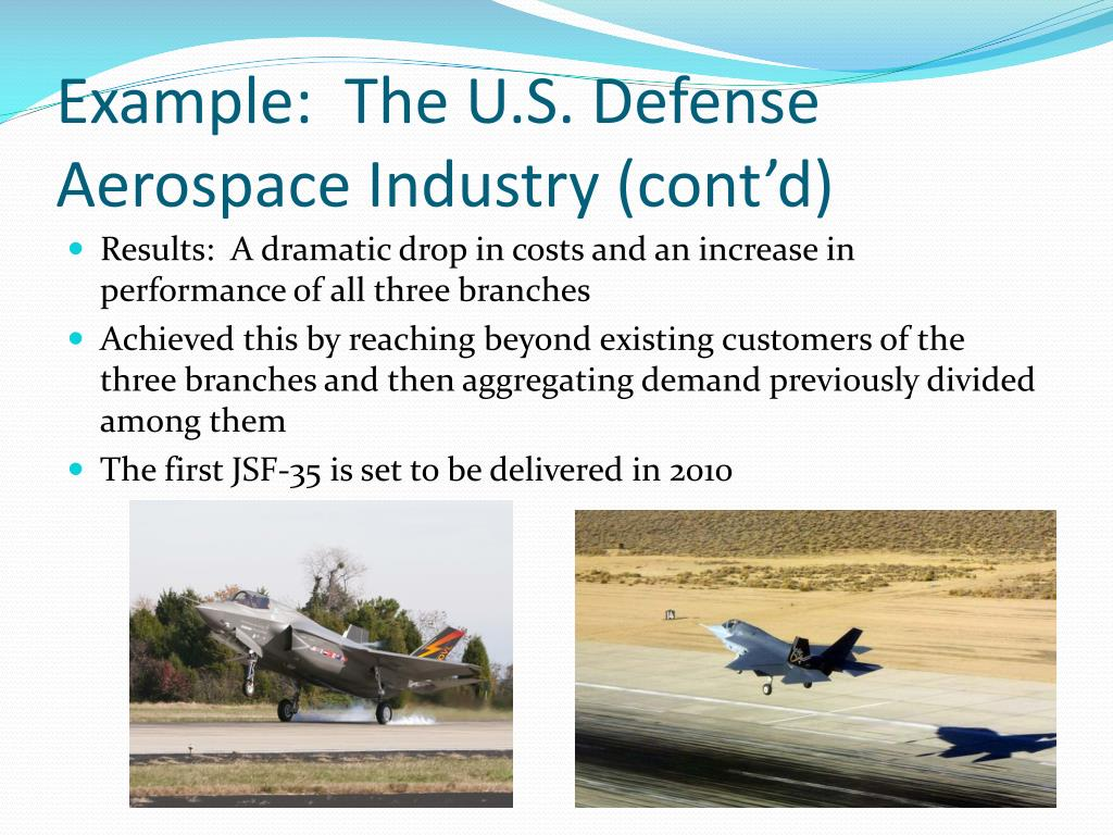 Example:  The U.S. Defense Aerospace Industry (cont'd)
