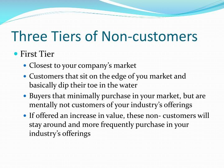 Three tiers of non customers
