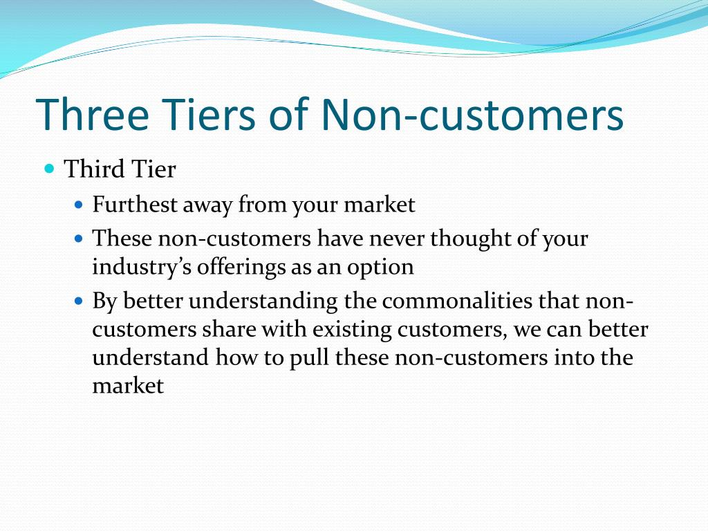 Three Tiers of Non-customers