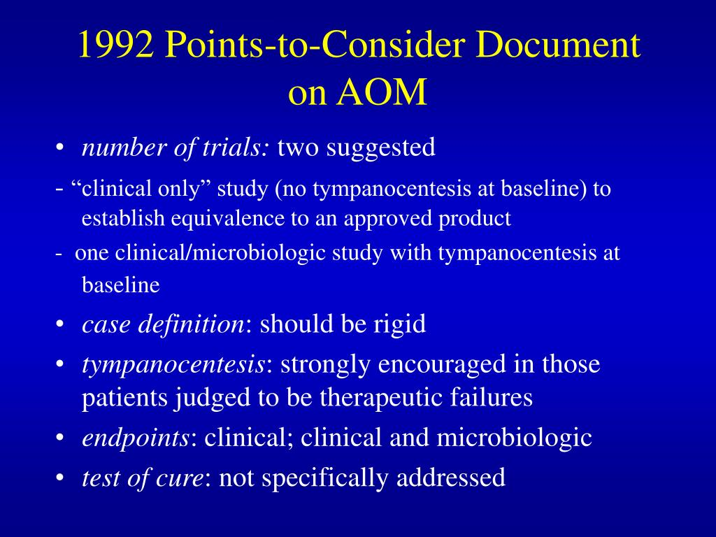1992 Points-to-Consider Document on AOM