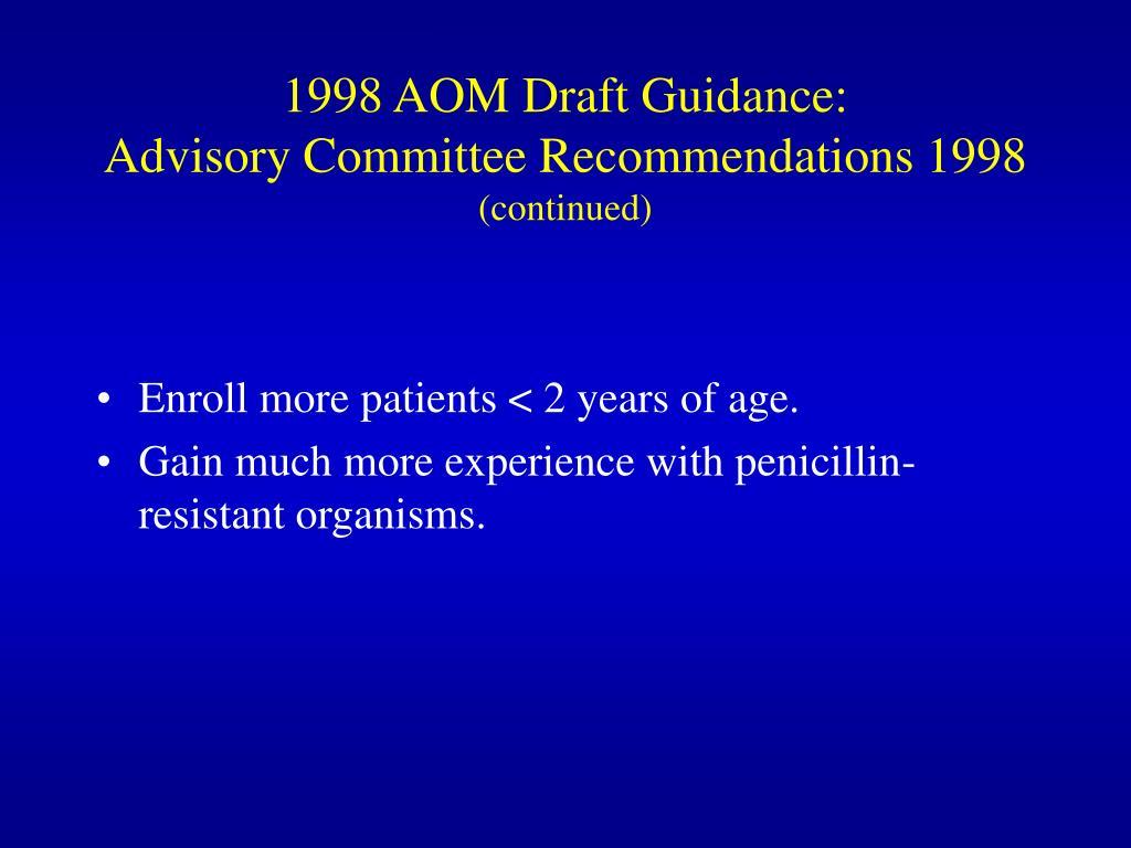 1998 AOM Draft Guidance: