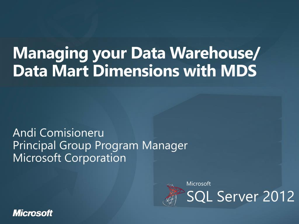 managing your data warehouse data mart dimensions with mds l.