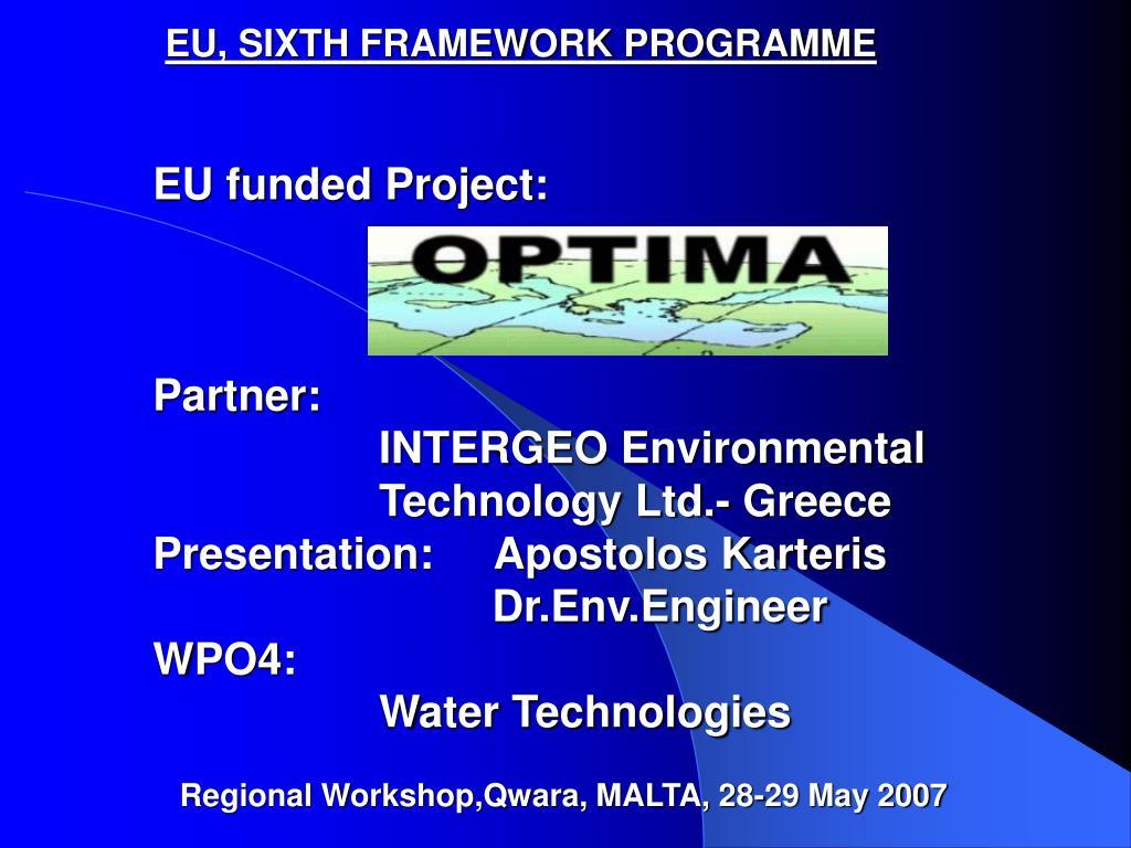eu sixth framework programme l.