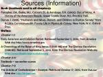 sources information