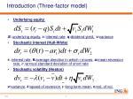 introduction three factor model