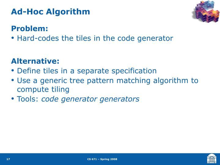 Ad-Hoc Algorithm