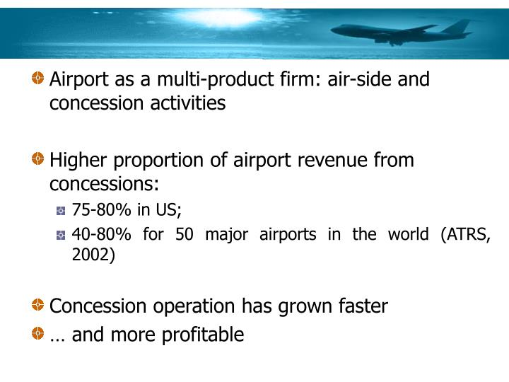 Airport as a multi-product firm: air-side and concession activities