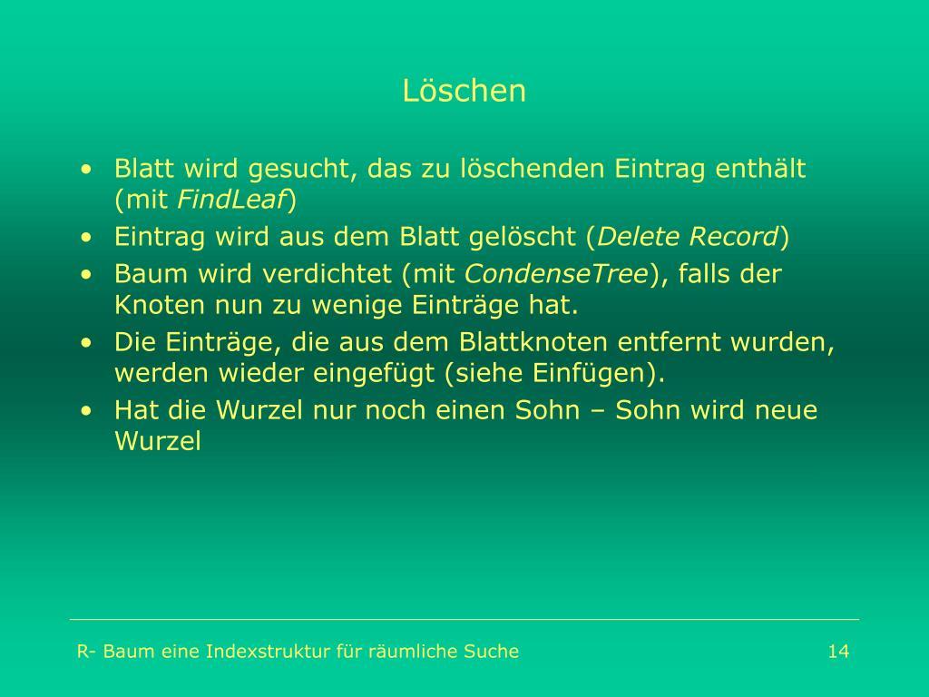 Löschen