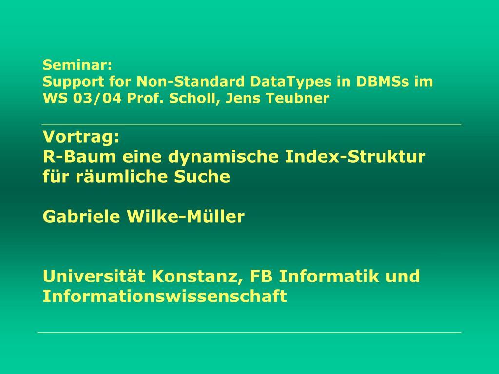 Seminar: