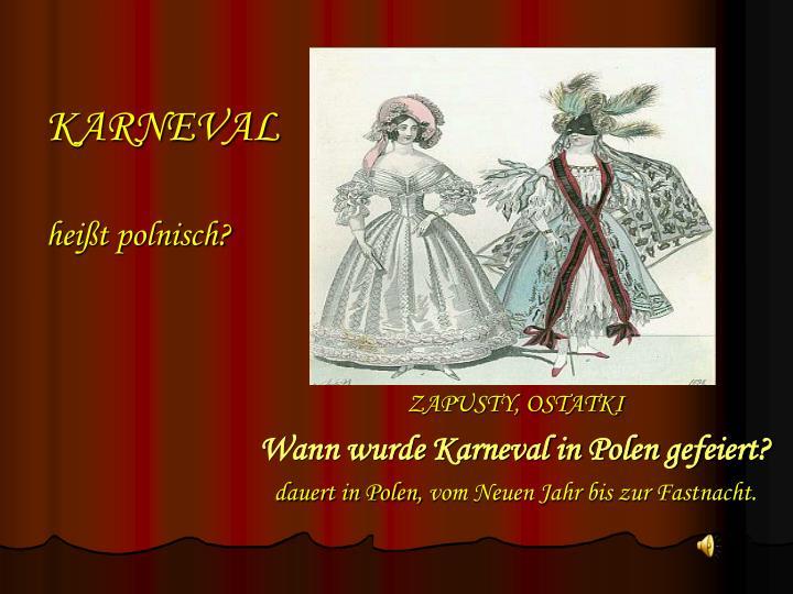 Karneval hei t polnisch