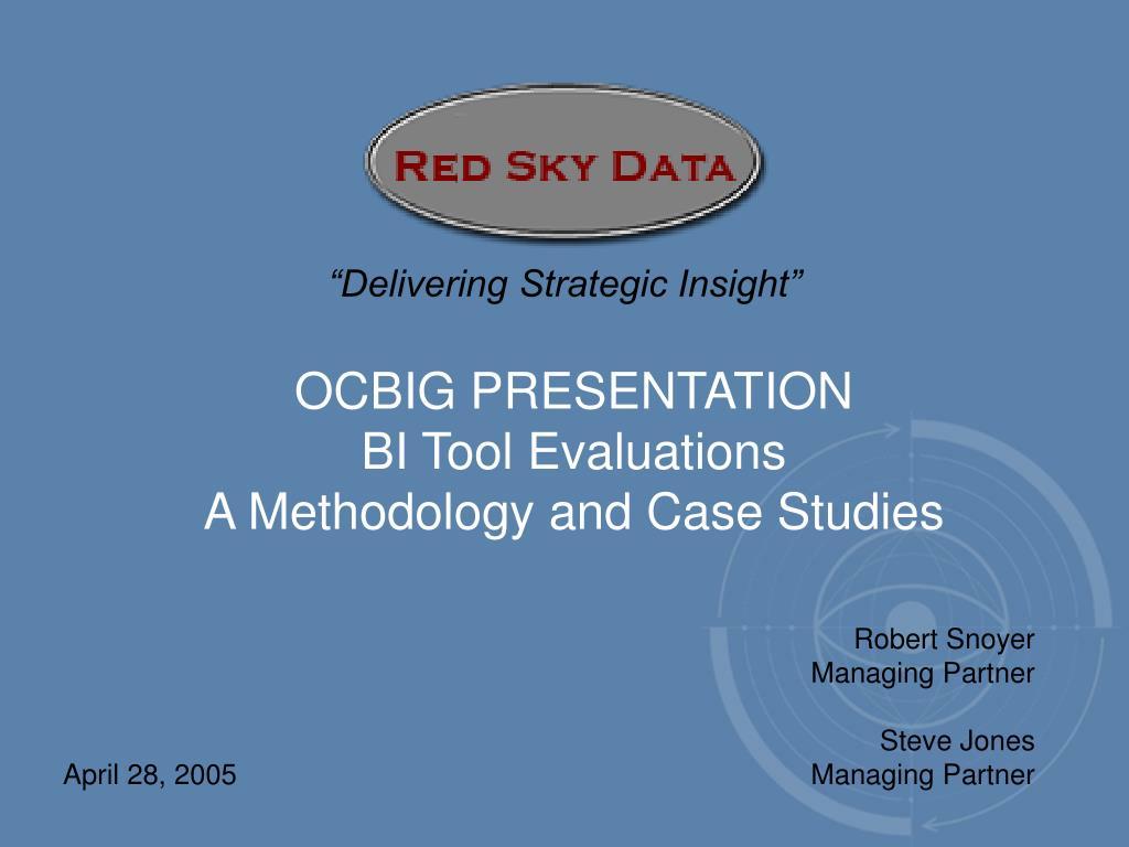 """Delivering Strategic Insight"""