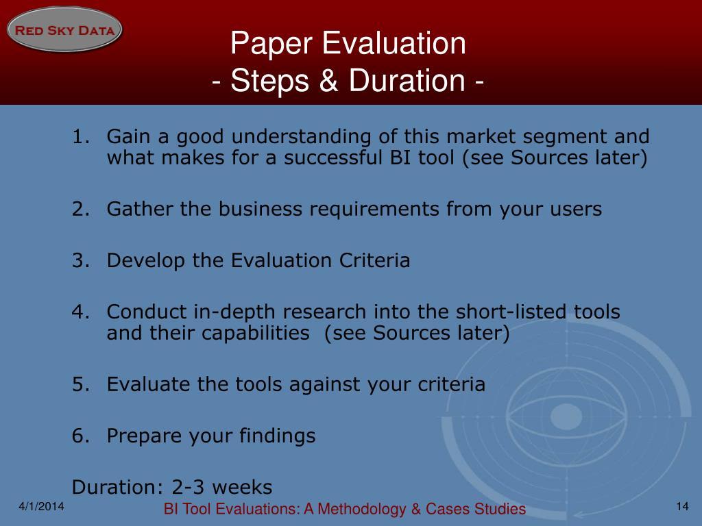 Paper Evaluation