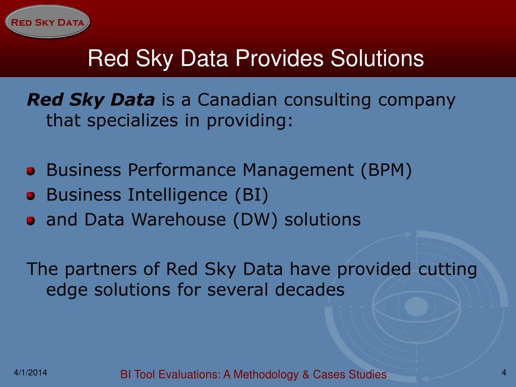 Red Sky Data Provides Solutions