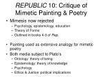 republic 10 critique of mimetic painting poetry