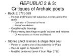 republic 2 3 critiques of archaic poets