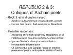 republic 2 3 critiques of archaic poets24