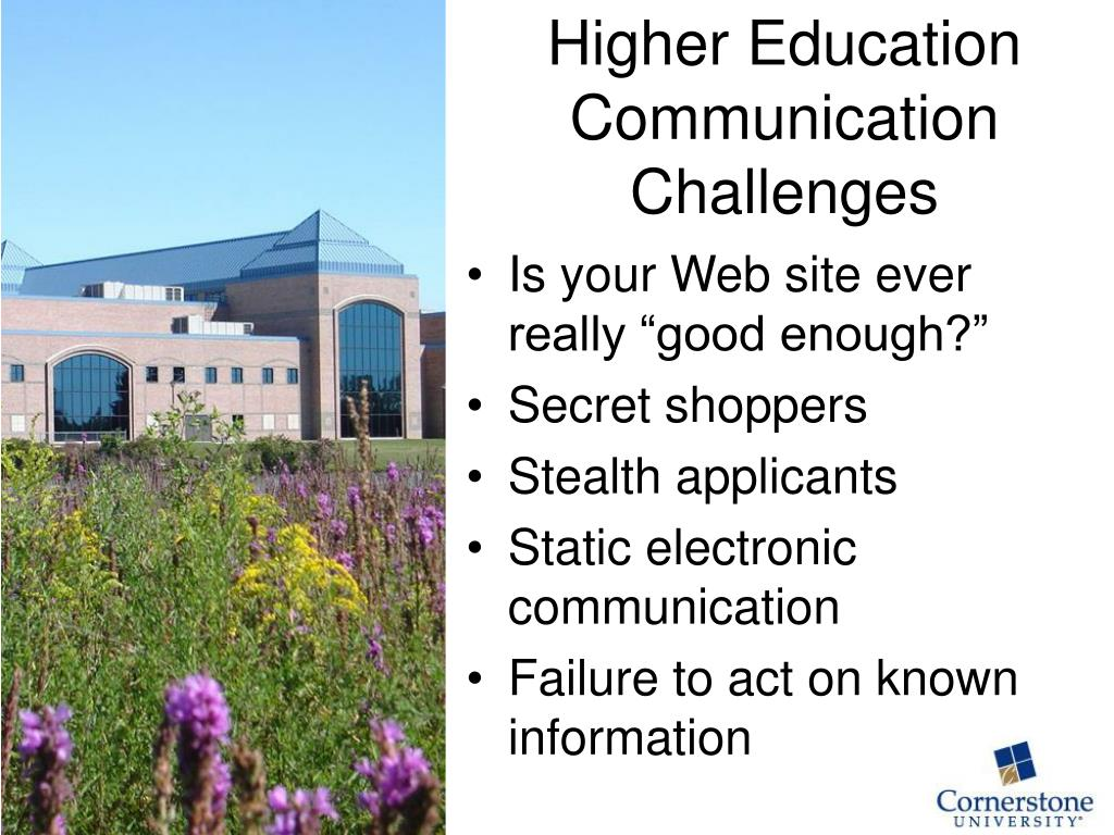 Higher Education Communication Challenges