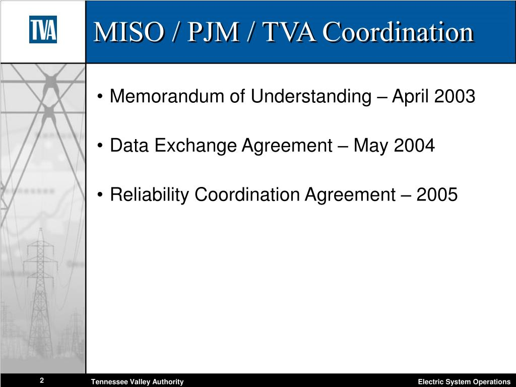 MISO / PJM / TVA Coordination