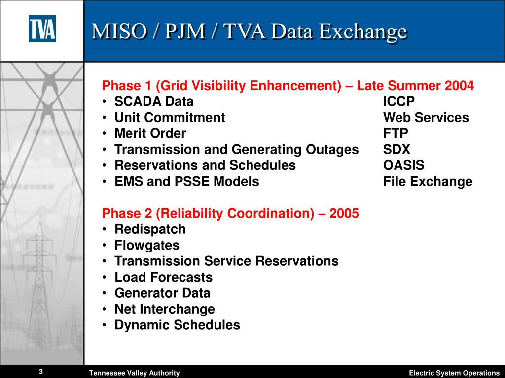 MISO / PJM / TVA Data Exchange