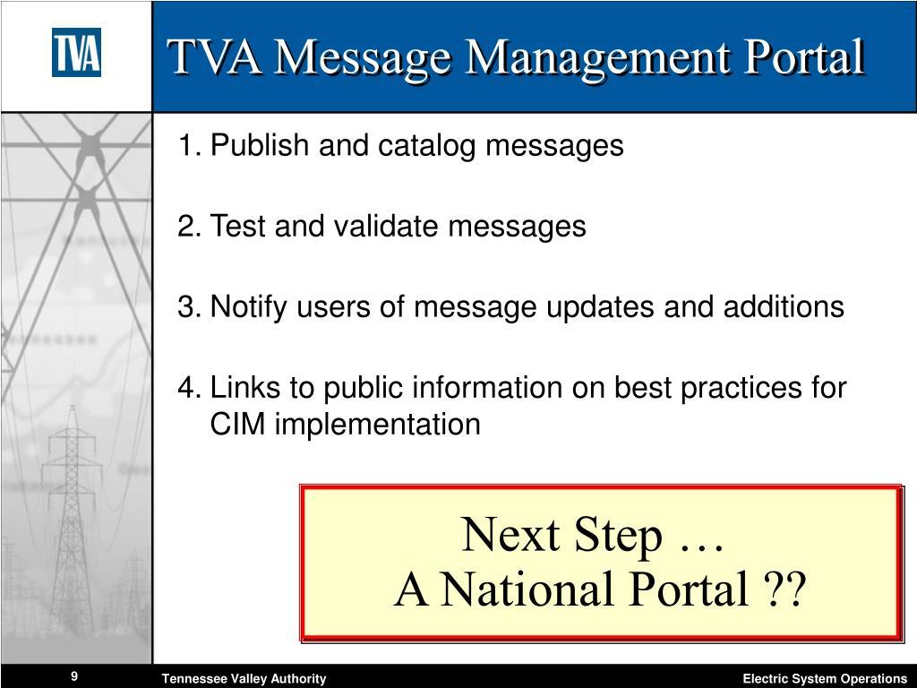 TVA Message Management Portal
