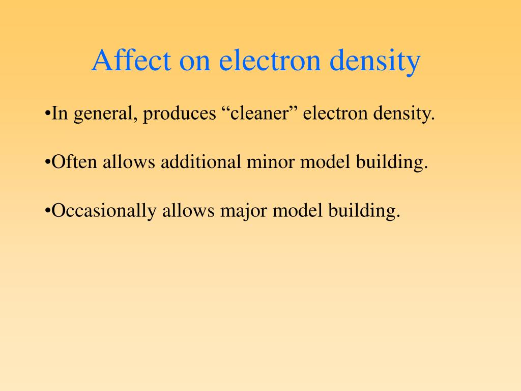 Affect on electron density