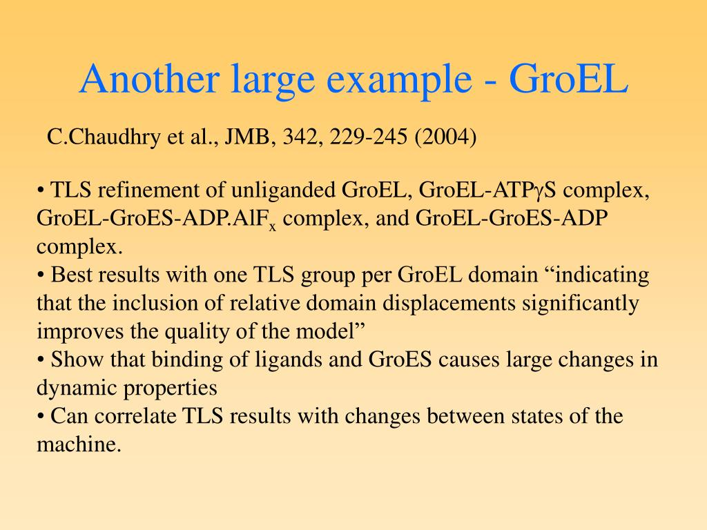 Another large example - GroEL