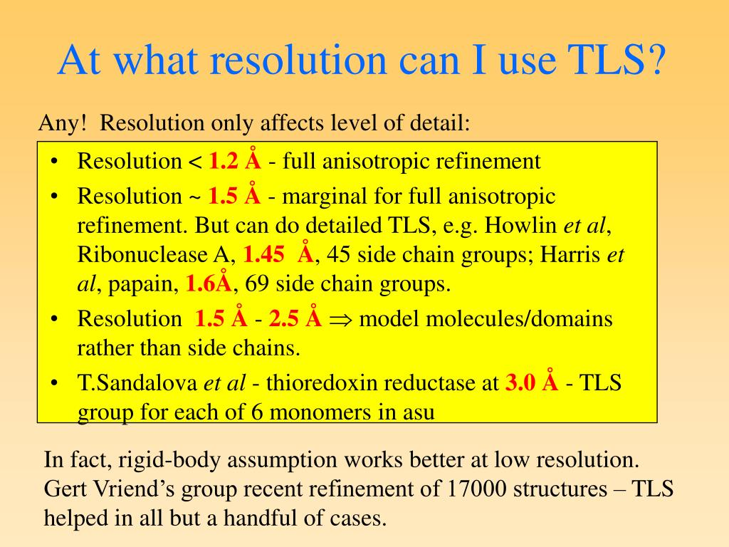 At what resolution can I use TLS?