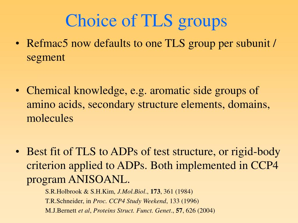 Choice of TLS groups