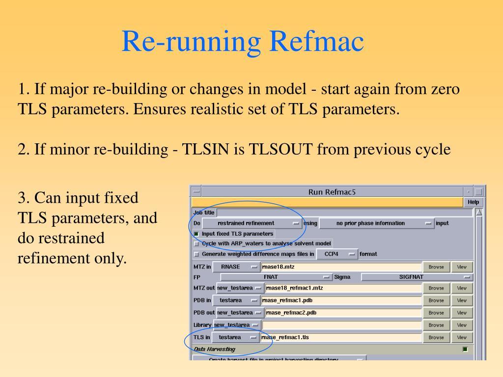 Re-running Refmac