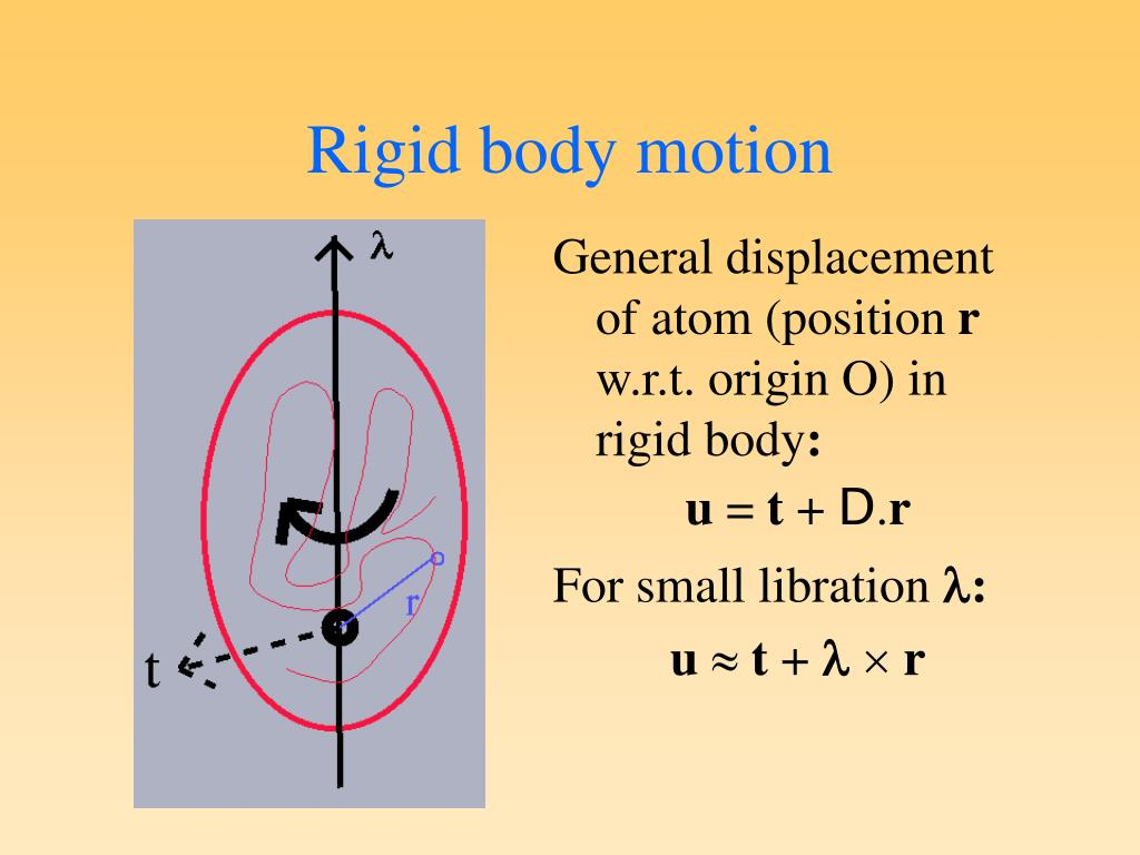 General displacement of atom (position