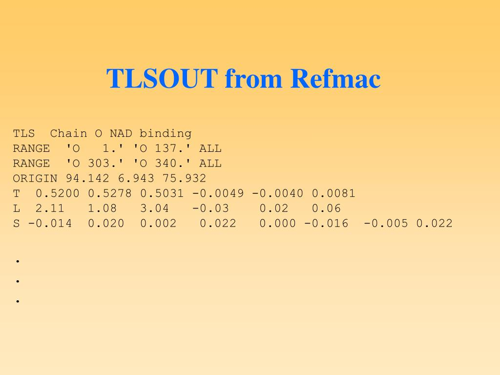 TLSOUT from Refmac