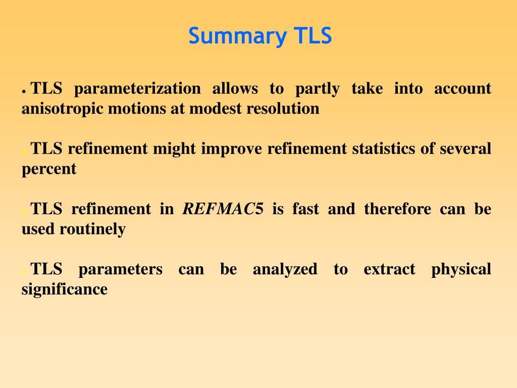 Summary TLS