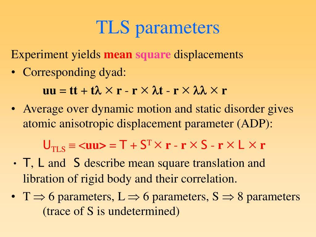 TLS parameters