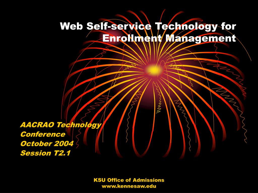 web self service technology for enrollment management