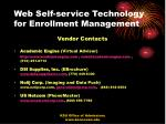 web self service technology for enrollment management51