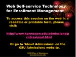 web self service technology for enrollment management52