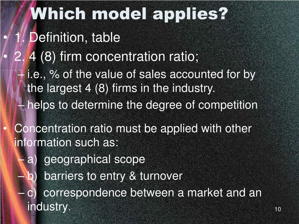 Which model applies?