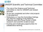unisdr scientific and technical committee