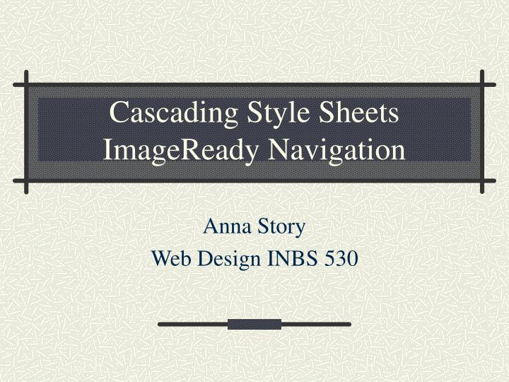 cascading style sheets imageready navigation n.